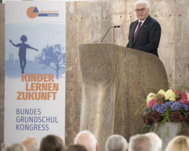 Bundespräsident Steinmeier beim Bundesgrundschulkongress